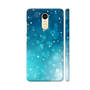 Colorpur Blue Christmas Stars Printed Back Case Cover for Redmi Note 4