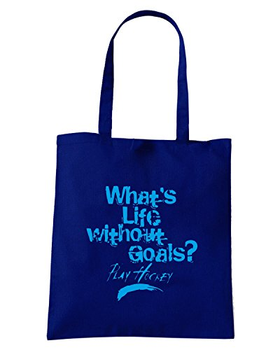 T-Shirtshock - Borsa Shopping OLDENG00339 life without goals kids Blu Navy