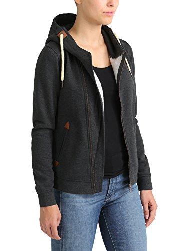 DESIRES Vicky - Sweat à capuche zippé – Femme Dark Grey Melange