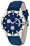 Nubela New Blue Color Leather Belt Analog Watch - for Men