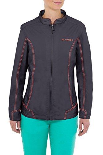 VAUDE Damen Jacke Women's Fusio Jacket, Tarmac Grey, 40, 05428 Womens Gefütterte Regen Jacke