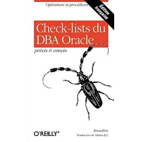 Check-lists du DBA Oracle