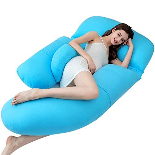 Wyyggnb Schwangerschaftskissen, Mutterschafts- & Körperkissen Schlafkissen for Schwangere Multifunktionskissen for die Taille Schlafkissen for Schwangere aus Baumwolle (Color : A) (Die Fetale Position)
