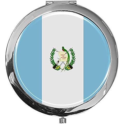 Specchietto tascabile / Bandiera il Guatemala / Duevolteingrandimento