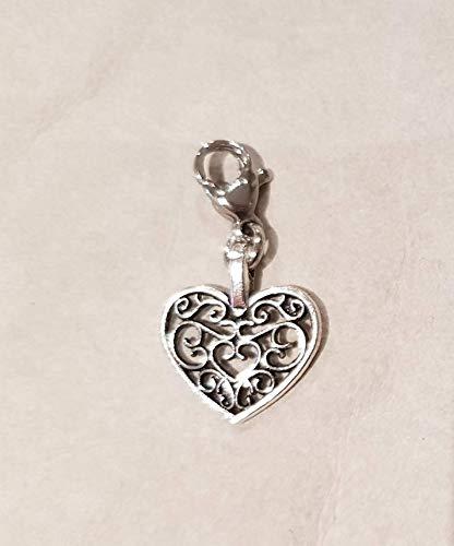 filigranes Herz ☘ Tracht ☘ Charivari☘ Anhänger ☘ Karabiner ☘ Bettelarmband ☘ Schlüsselanhänger ☘Kette ☘ Farbe: ()
