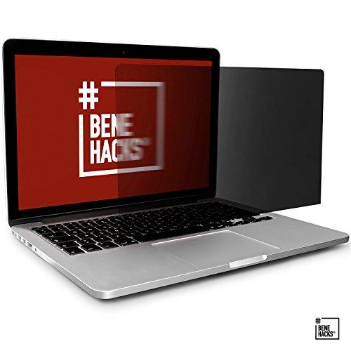 #benehacks Sale (Lagerverkauf) Blickschutzfolie - Apple MacBook Pro - Privacy Screen Monitor - für 15' Display (Bildschirmgröße von 359 x 236 mm) - Farbe:schwarz
