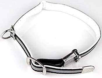 Collier pour Chat chien avec Cran de Sécurité bande reflechissante visible de nuit