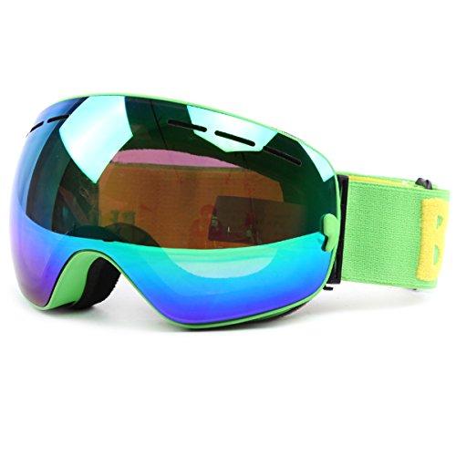 Huntvp occhiali da sci unisex occhiali da snowboard professionali occhiali da neve confortevoli senza montatura occhiali da snowboard traspiranti maschere da sci protettivo uv400 anti-nebbia
