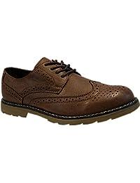 Dilize - Zapatos de cordones para hombre, color gris, talla 41 EU