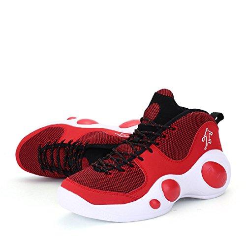 Herren Sportschuhe Das neue Ausbildung Basketball Schuhe Rutschfest Atmungsaktiv Turnschuhe Laufschuhe Red