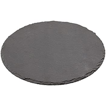 Round 30 cm Genware NEV-SLTN-30 Natural Edge Slate Platter