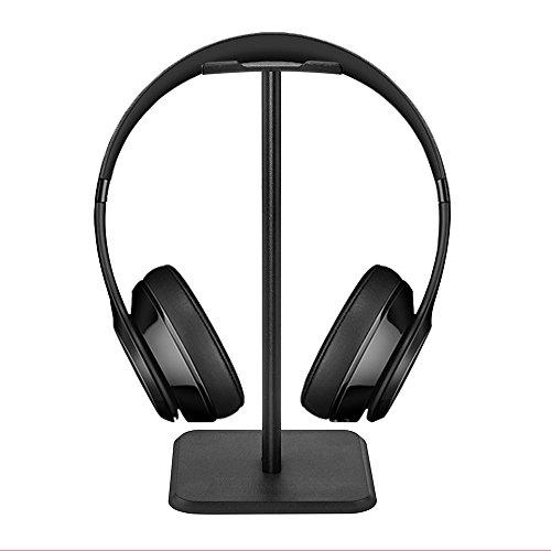 Iitrust Kopfhörerständer, Universal Kopfhörerhalter für Over Ear Kopfhörer, aus Aluminium + TPU + ABS, Schwarz -