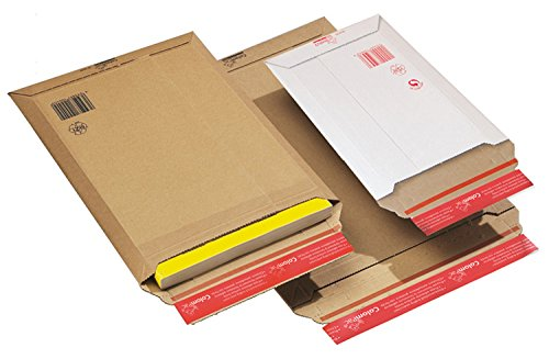 Colompac CP01002 - Bolsa de carton extra rígido, 180x27x50 mm, A5, 20 unidades