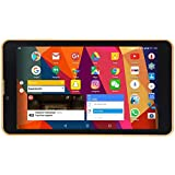 DOMO Slate S1 3G Calling Android Tablet PC with GPS, Bluetooth, QuadCore CPU, Dual SIM, Wireless Display Screen for MiraCast - Gold Colour