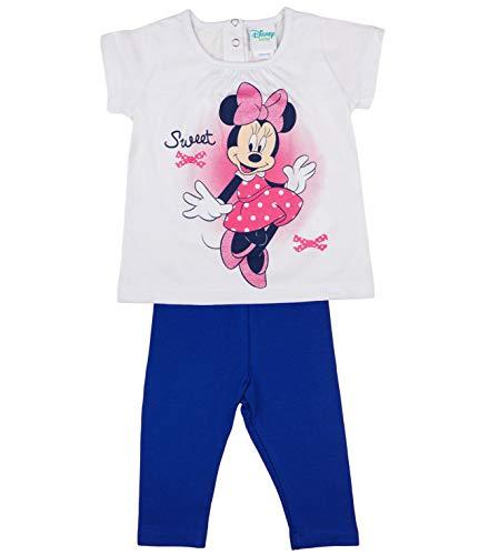 Minnie Mouse Mädchen Baby Set Leggings und Kurzarm T-Shirt Baumwolle Sommer Outfit Gr 86 92 98 104 110 116 ideales Geschenk 2Teiler Set Disney Zweiteiler für 1 2 3 4 5 Jahre Größe 116