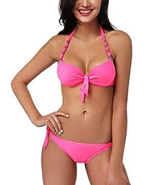 42f3a89dfc96 PRIDE S Costume da bagno della spiaggia del costume da bagno del bikini di  colore solido