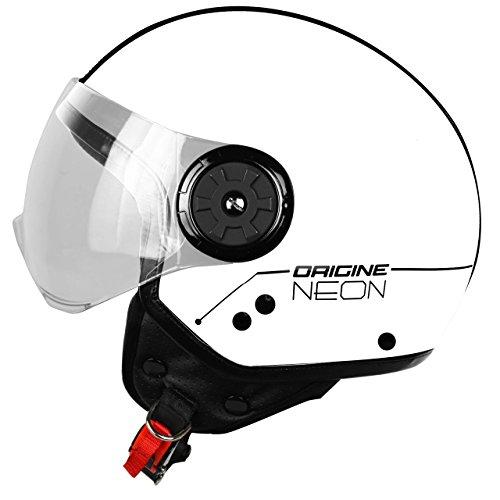 Preisvergleich Produktbild Herkunft Helmets 201585028100105 Neon Street Helm Demi Jet,  Weiß,  L