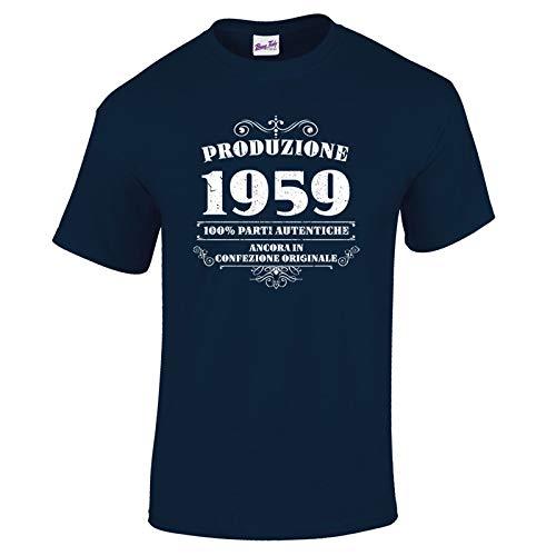 Bang Tidy Clothing T-Shirt da Uomo da 60esimo Compleanno Produzione 1959 - Maglietta Idea Regalo per i 60 Anni
