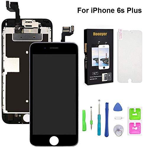 Hoonyer Für iPhone 6S Plus Display ersatzbildschirm LCD Touchscreen Display vorinstallierte frontkamera näherungssensor Reparatur kit komplette ersatzbildschirm mit Werkzeug (Weiß)