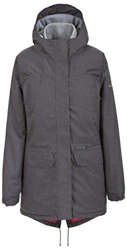 Trespass Twinge, Dark Grey Marl, S, Warme Wasserdichte Gepolsterte Jacke für Damen, Small, Grau