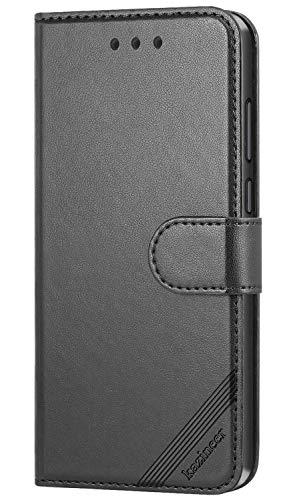 kazineer Hülle für Cubot R11 (2018), Handyhülle Leder Tasche Flip Case Brieftasche Etui Schutzhülle kompatibel mit Cubot R11 2018 (Schwarz)
