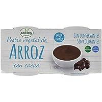 Golden Organic Postre Vegetal Crema de Arroz con Cacao Ecológico - Paquete de 12 x 240 gr - Total: 2880 gr