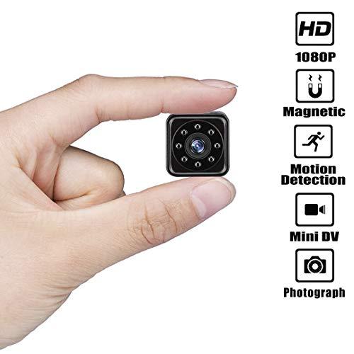 SHHENGSHIYUJIA Mini Spy versteckte Kamera, tragbarer Videorecorder HD 1080P mit Ir Nachtsicht Bewegungserkennung Sicherheitsüberwachung für Zuhause