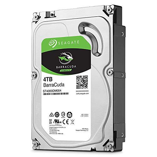 Seagate Barracuda ST4000DM004 Interne Festplatte für Desktop PC, NAS (8,9 cm (3,5 Zoll), 256 MB Cache, 7200RPM, SATA-III 6Gb/s) (Zertifiziert und Generalüberholt), Kapazität:4.000GB (4TB) -