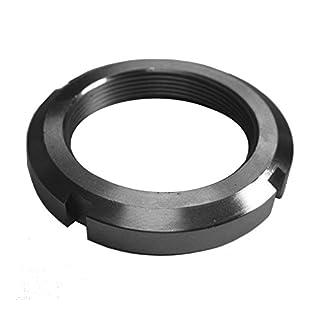 J.W. Winco KM-10 KM Bearing Lock Nut, M50 x 1.5 Thread, 70 mm OD, 11 mm Thickness, 6 mm Slot Width -2.5 mm Slot Depth (4)