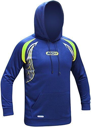 RDX MMA Fitness Felpa Uomo Con Cappuccio Cerniera Boxe Sportiva Jogging Felpata Trekking Sport
