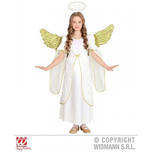 Kinderkostüm Engel / Engelskostüm mit weiten Ärmeln / Engelskleid für Kinder / Weihnachten Gr. 140 ( 8 - 10 Jahre )