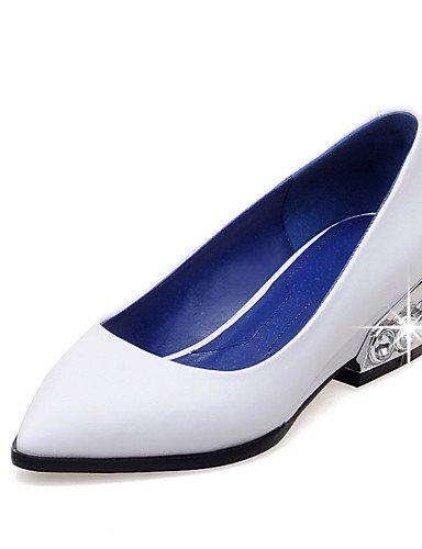 WSS 2016 Chaussures Femme-Bureau & Travail / Habillé-Noir / Rouge / Blanc-Talon Bas-Confort / Escarpin Basique / Bout Pointu-Talons-Cuir Verni black-us6.5-7 / eu37 / uk4.5-5 / cn37