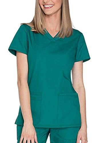 Hunter 54 (Taylover Damen V-Ausschnitt Kasack Schlupf Medizinische Uniform Damenkasack Schlupfkasack Berufsbekleidung Damen Kasack, 52/54, Hunter)