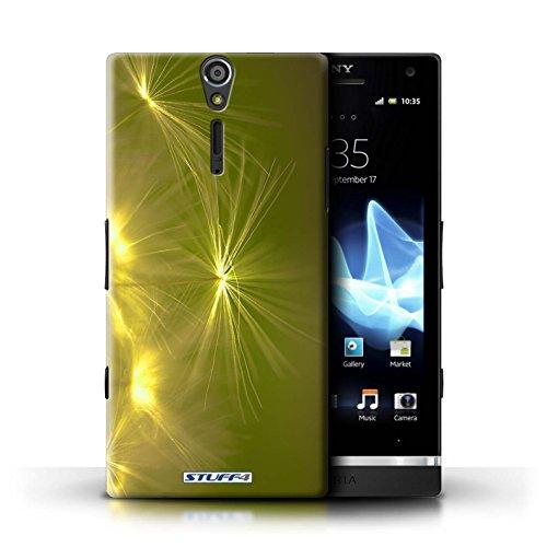 Kobalt® Imprimé Etui / Coque pour Sony Xperia S/LT26i / Orange conception / Série Allumez la vie Jaune