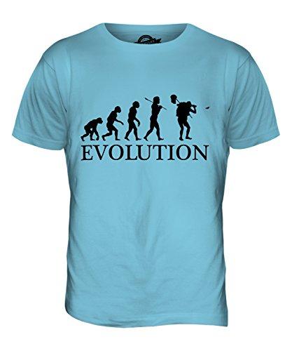 CandyMix Schmetterling Fangen Insektensammlung Evolution Des Menschen Herren T Shirt Himmelblau