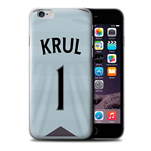 Offiziell Newcastle United FC Hülle / Case für Apple iPhone 6 / Pack 29pcs Muster / NUFC Trikot Away 15/16 Kollektion Krul