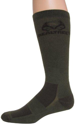 Realtree Outfitters Herren ultra-dri Boot-Socken (RJ45), groß, Olivgrün (Boot-socke Gepolsterte Thermische)