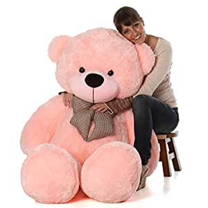 Hug 'n' Feel Soft Toys Extra Large Very Soft Lovable/Huggable Teddy Bear for Girlfriend/Birthday Gift/Boy/Girl Pink 3 feet (91 cm)