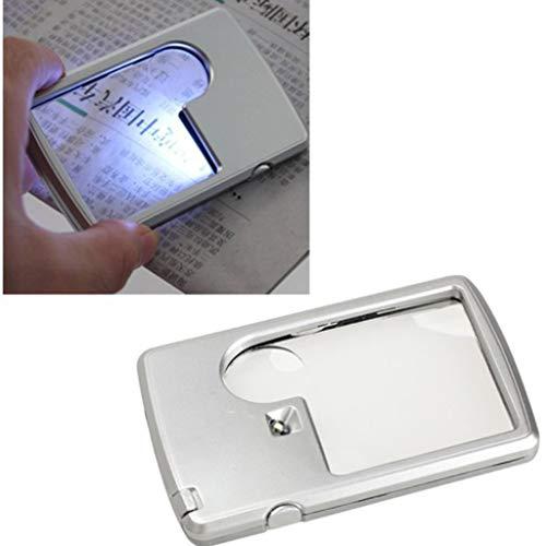 Gaddrt Rechteckige LED-Lampen-Karten-Vergrößerungsglas-Visitenkarten-Vergrößerungsglas, das 3X /...