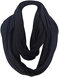 a7864c1d0fd1 iShine Mode Echarpe Tube Foulard Tubulaire Châle Tour au Cou Echarpe  Unisexe pour Femme Homme Cache-col par Coton Unicolore Chaud Hiver…