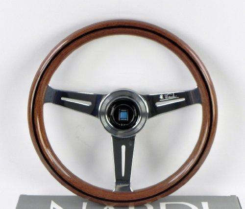 Nardi Lenkrad–CLASSIC–330mm (33cm)–Mahagoni Holz mit Poliert Speichen–Teil # 5061.33.3000 (330mm Lenkrad)