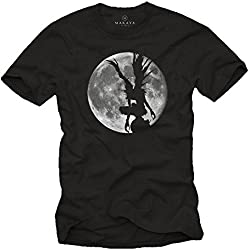 T-Shirt Hombre Manga Anime Comic - Camiseta Ryuk Shinigami Death Note Negra XL