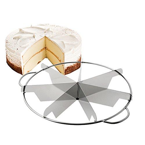 Tellier Découpe parts à gâteau Inox avec poignées