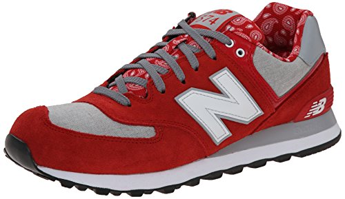 New Balance ML574LCM Hommes Trainers Red Grey