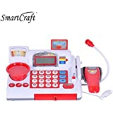 smartcraft Cash Register Banking Pretend Play Electronic Sounds Educational(Red )