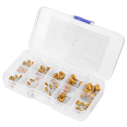 100pcs 10 Werte 16V 1 uf - 100 uf Tantalkondensatoren Assorted Kit mit Kunststoffbox für elektronische Profis oder Enthusiasten (Audio Smd Car)