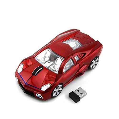 Cooles Sport-Auto-Form 2,4 GHz Wireless Maus 3 Tasten 1600dpi Hohe Tracking Speed Optische Maus Gaming-Mäuse USB Empfänger für PC Laptop Computer Geschenk Auto-form Usb