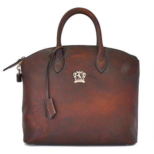 Pratesi Versilia Aged cuir italien sac fourre-tout. Sac d'épaule (marron foncé) marron foncé