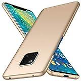 Funda Huawei Mate 20 Pro TopACE Ultra Slim Anti-Rasguño y Resistente Huellas Dactilares Totalmente Protectora Caso de Plástico Duro Cover Case para Huawei Mate 20 Pro (Oro)