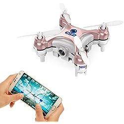 JSMeet Le Plus Petit Drone avec caméra Live Video iOS / Android APP Téléphone WiFi Télécommande Mini Quadcopter Drone Drone de Poche pour Apple iPhone iPad Sumsung HTC